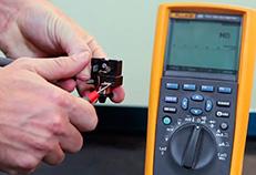 Verificação da continuidade elétrica no relé