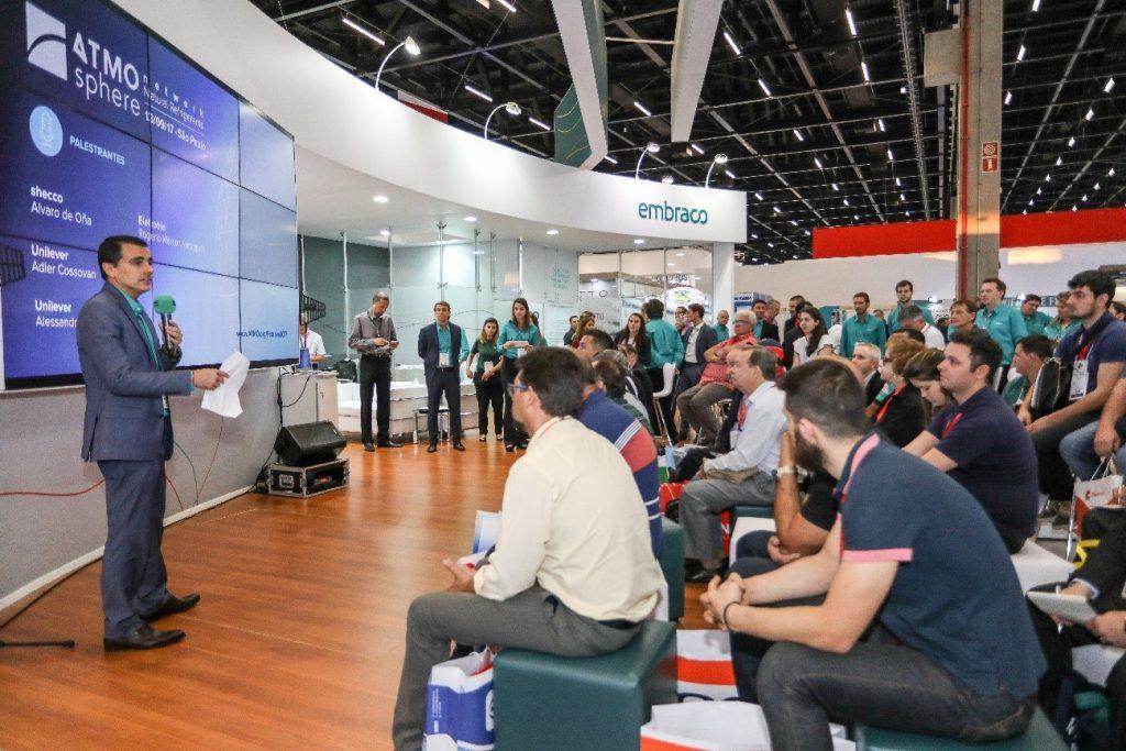 4Luis Felipe Dau, presidente da Embraco, durante a abertura da ATMOsphere Network
