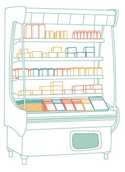 Refrigerador aberto para bebidas e outros produtos: cada vez mais presente no varejo.